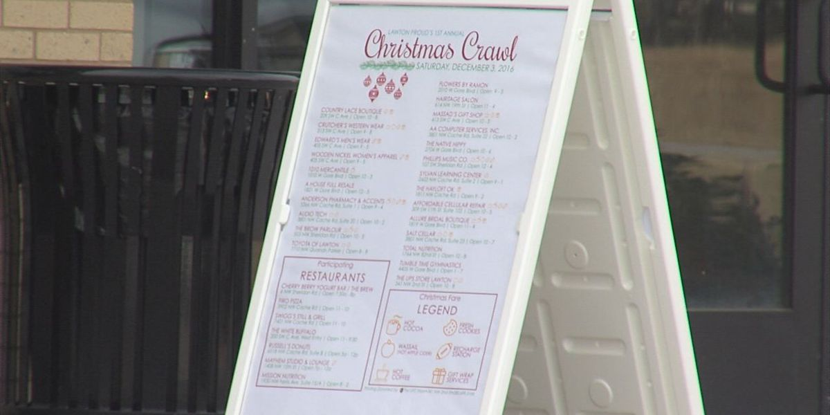 Lawton Proud Holds Christmas Crawl This Saturday, Save Money And Shop Local