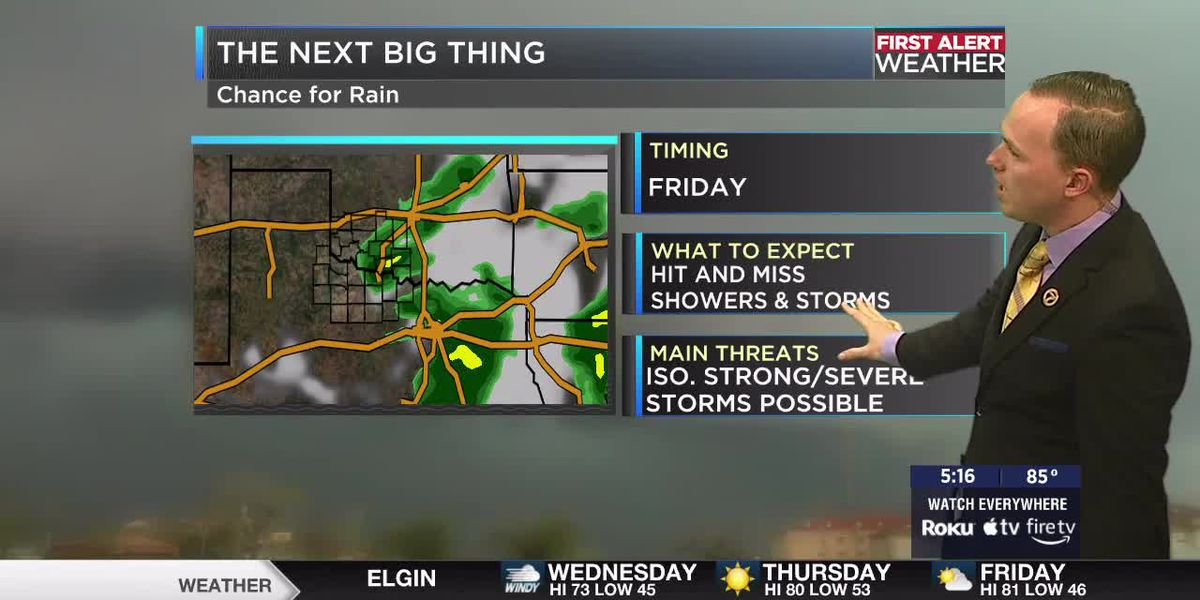 7News First Alert Weather: Much cooler behind tomorrow's cold front
