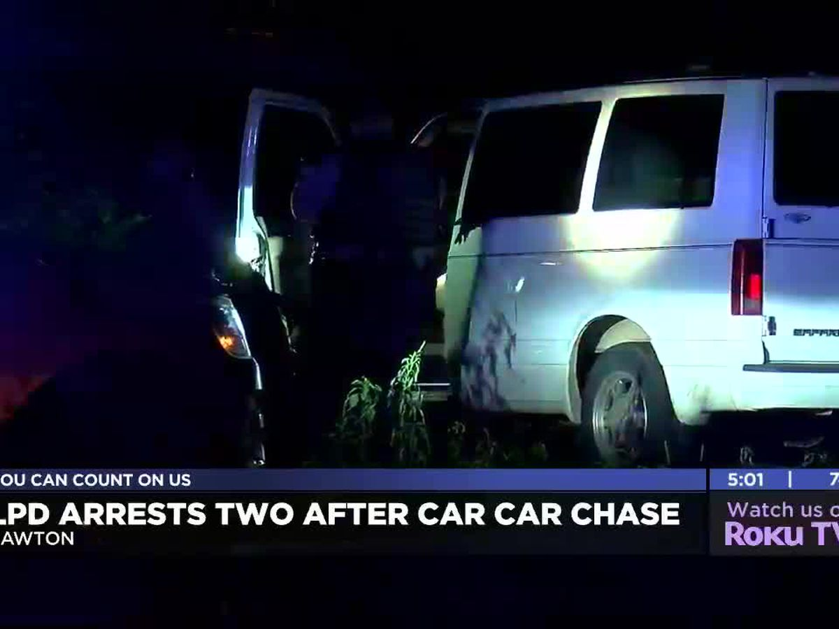 Two people in custody after Tuesday night car chase in Lawton