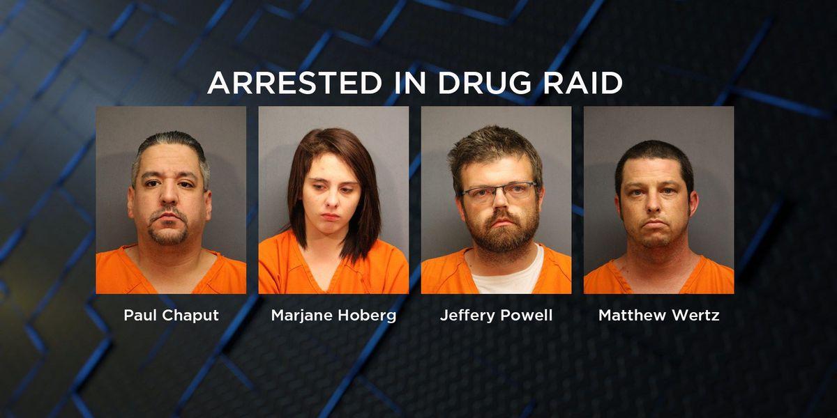 Four arrested in Lawton drug bust
