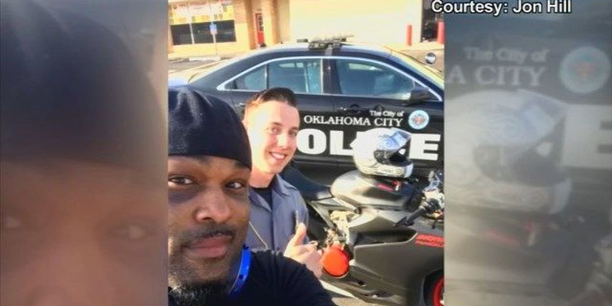 Social media posts of OKC officer helping out goes viral