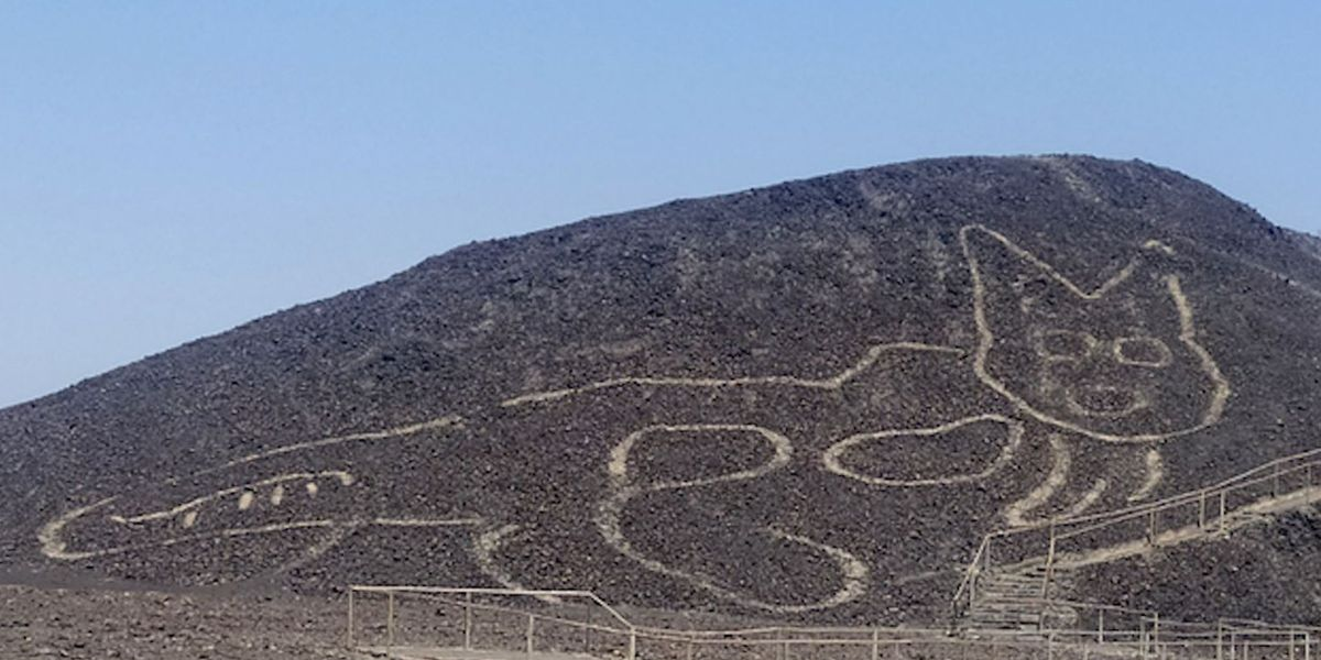 2,000-year-old Nazca Lines cat carving discovered in Peru