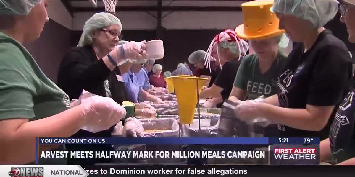 Arvest Bank halfway to Million Meals Campaign goal
