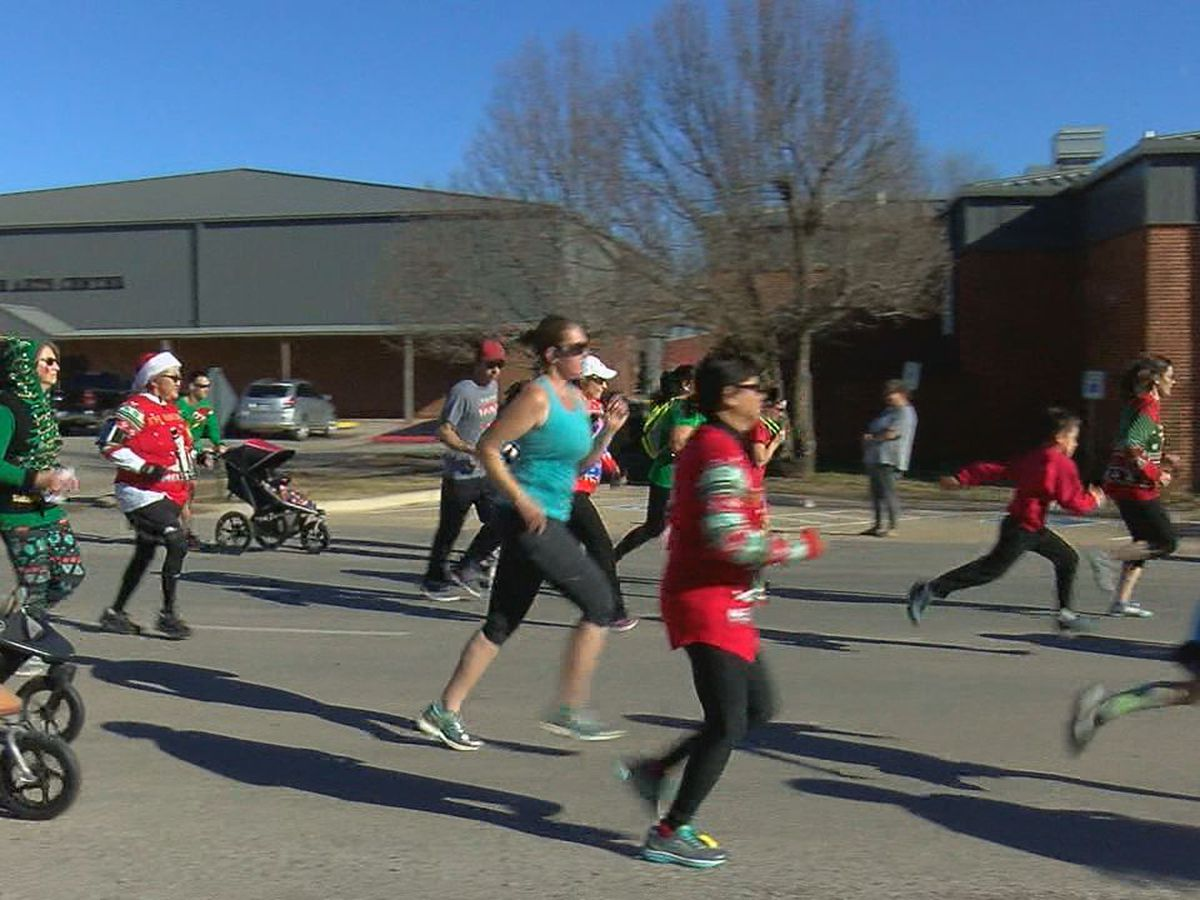 Runners participate in Elgin's 2nd annual Ugly Sweater 5K