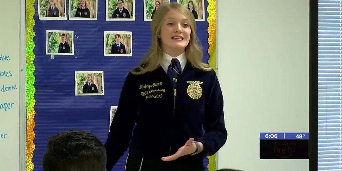FFA students in SW Oklahoma receive visit from state FFA officers