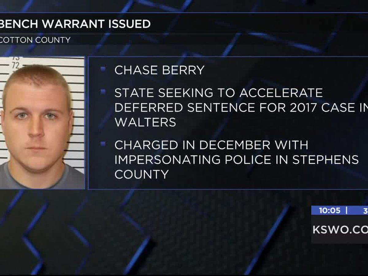 Bench warrant issued for former reserve sheriff's deputy in Cotton County