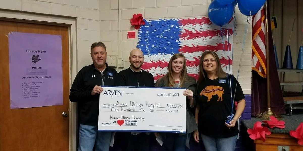 Arvest Bank Awards $16,500 to Teachers Across Oklahoma