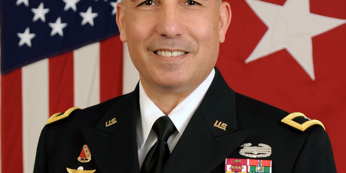 Retreat ceremony for Brigadier General Stephen Maranian at Fort Sill