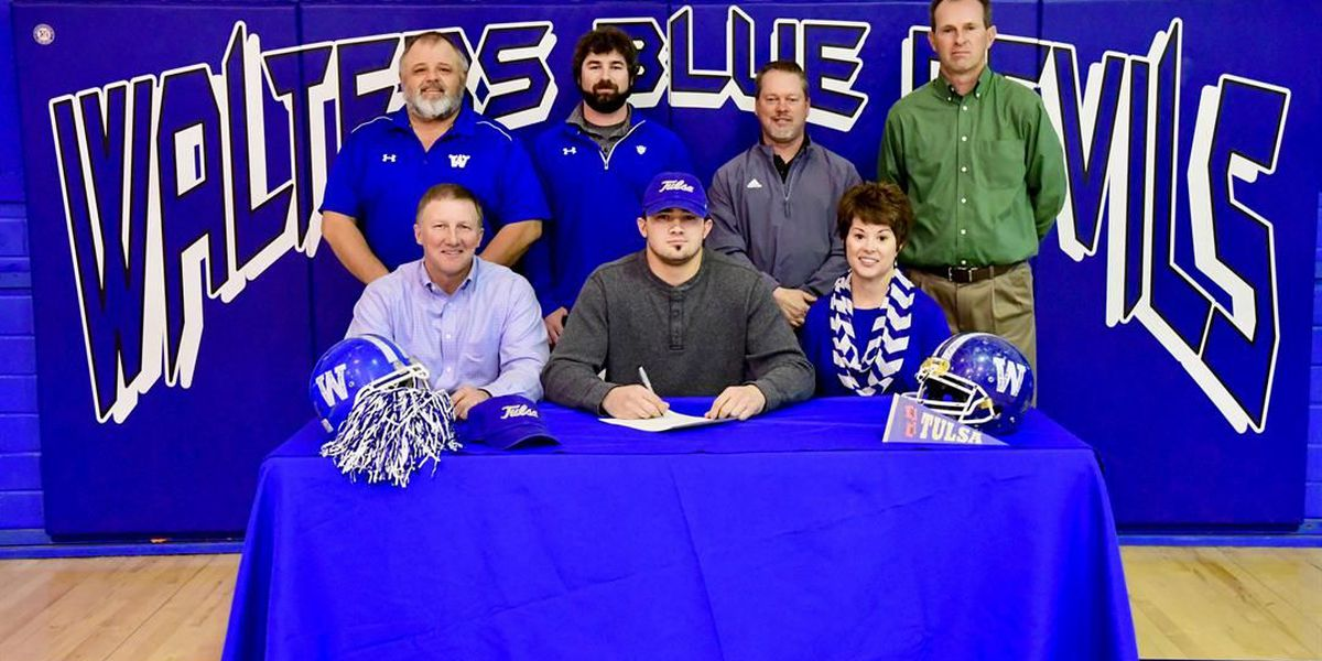 Walters HS football player signs with the University of Tulsa