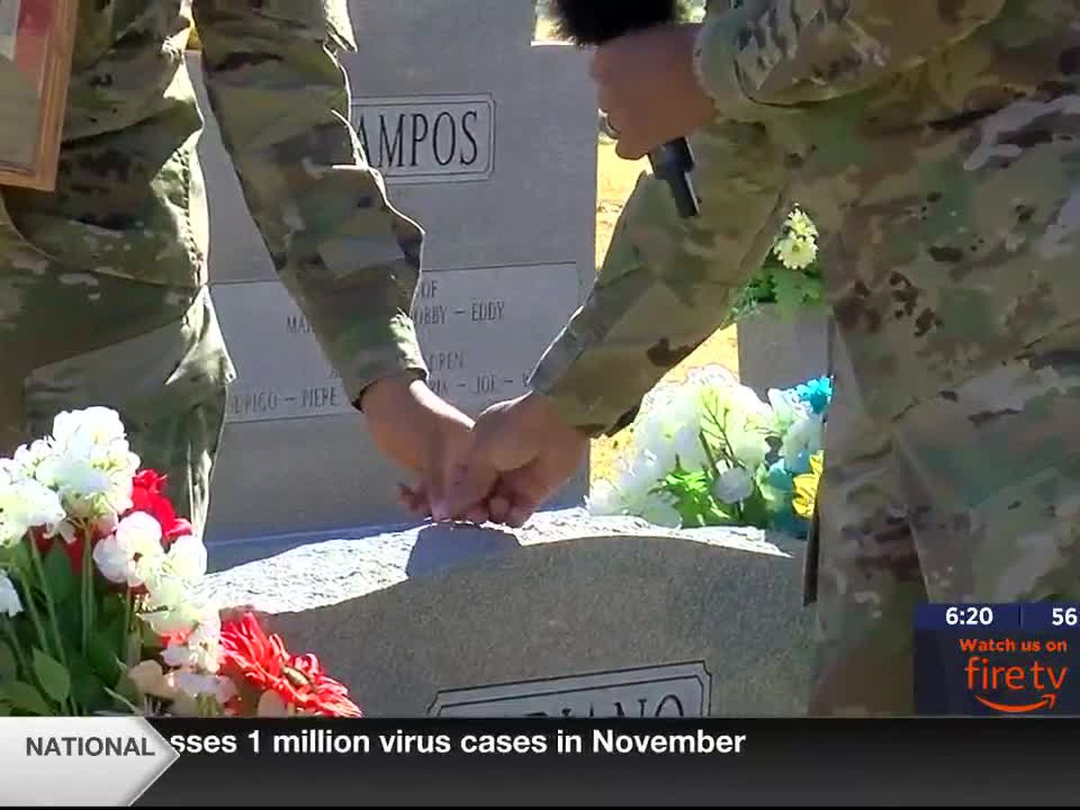 Soldiers, veterans place coins on graves ahead of Veterans Day