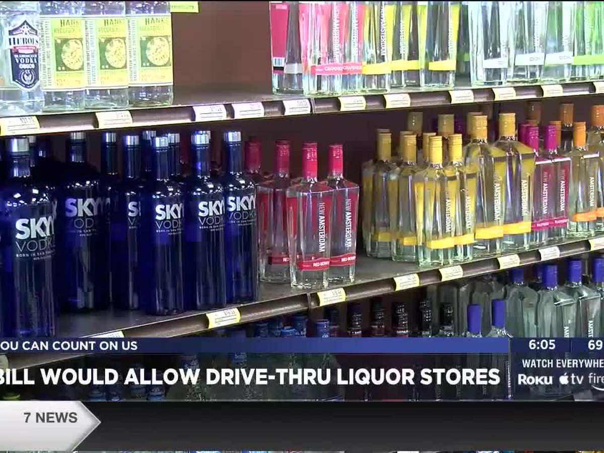 New bill would allow liquor store drive-thrus