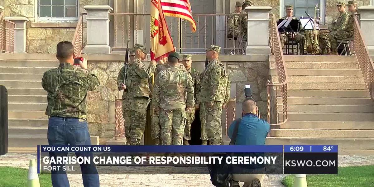 Garrison command sergeant major change of responsibility ceremony held on Fort sill