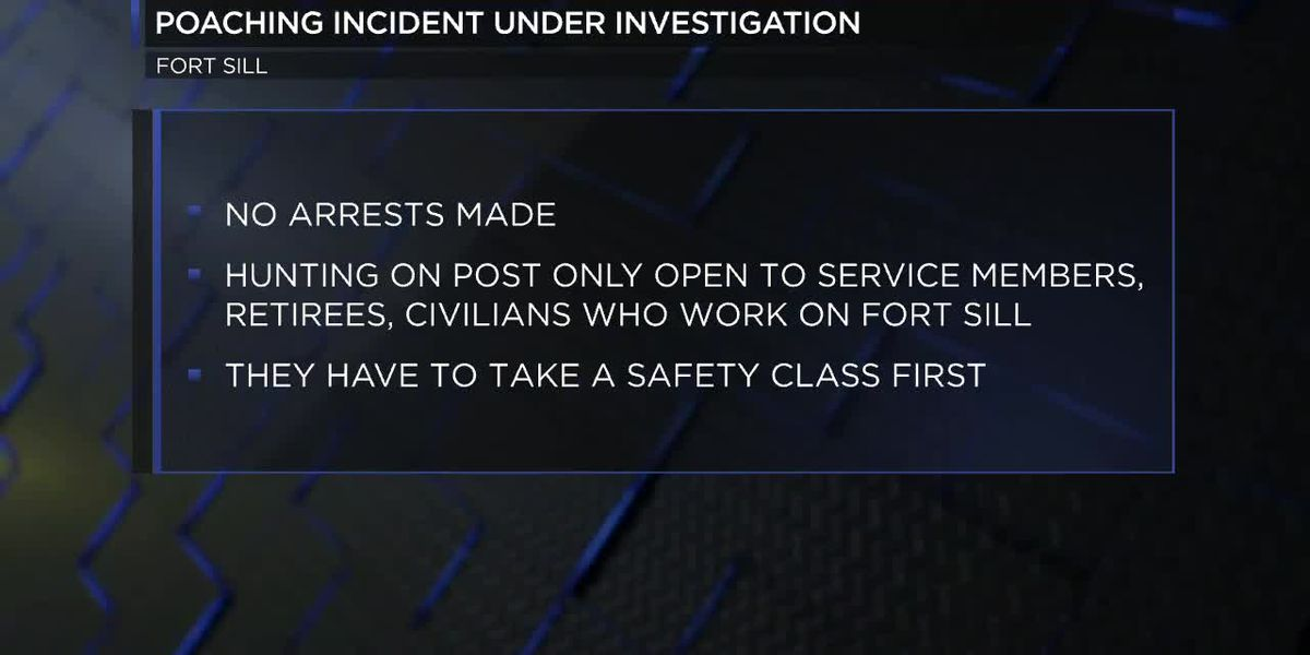 Second Fort Sill poaching incident under investigation
