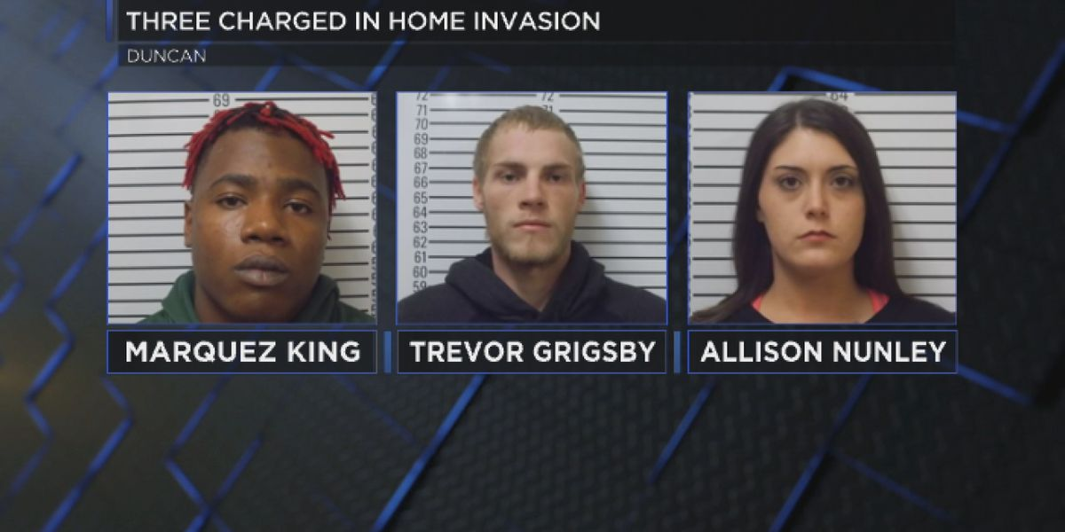 Three arrested for Duncan home invasion
