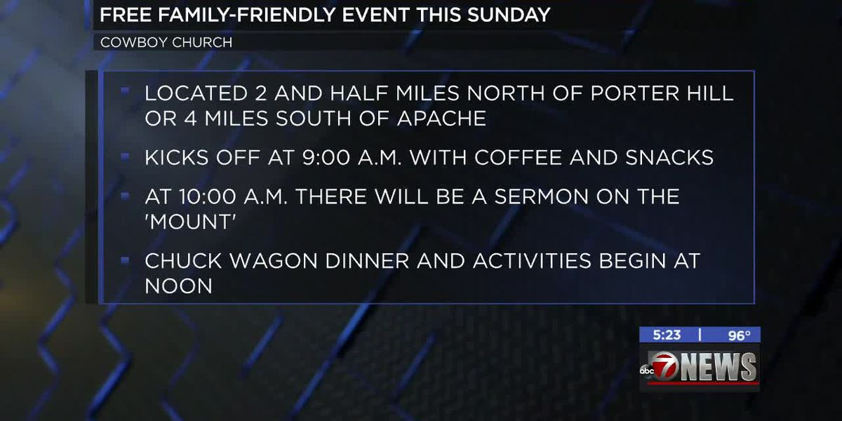 Apache Cowboy Church hosting family-friendly event