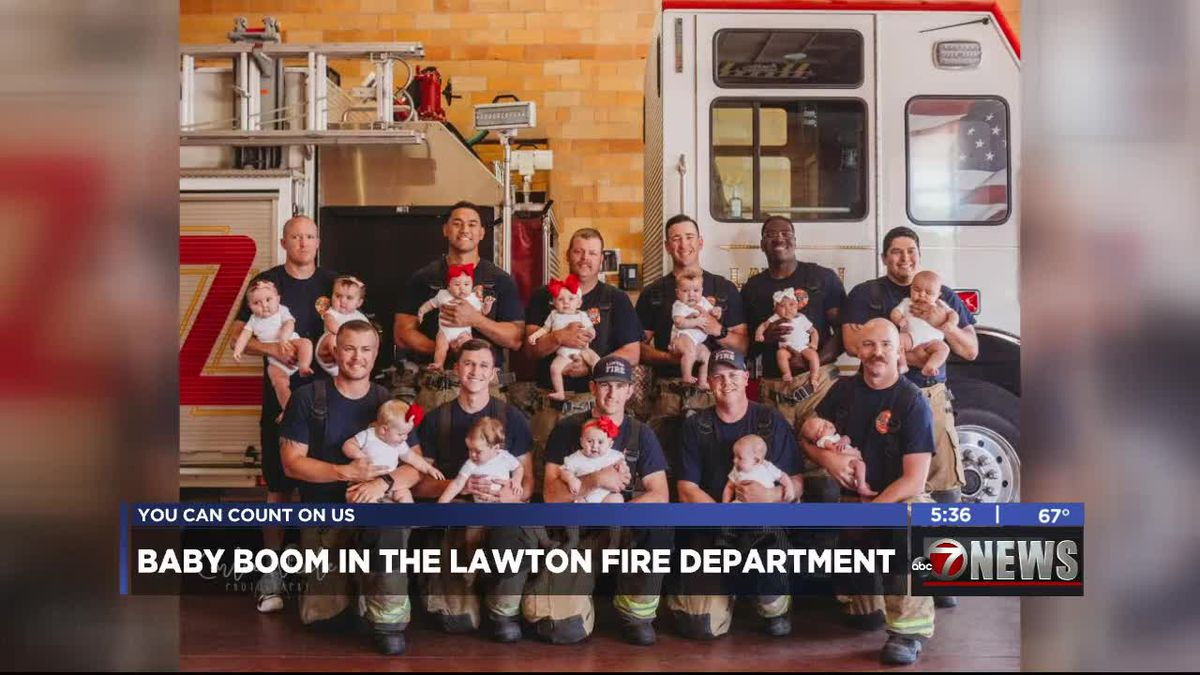 Baby boom at Lawton Fire Department