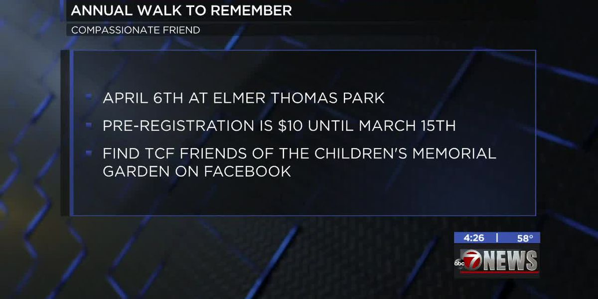 Compassionate Friends hosting annual Walk to Remember in Lawton