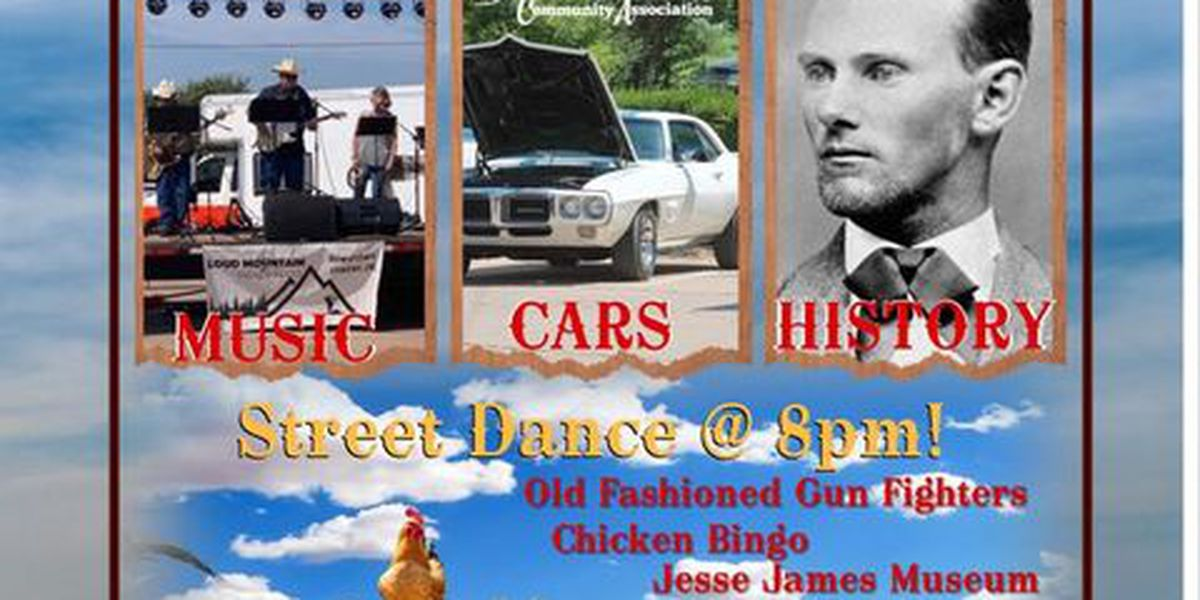 Jesse James Festival happening Saturday in downtown Cement