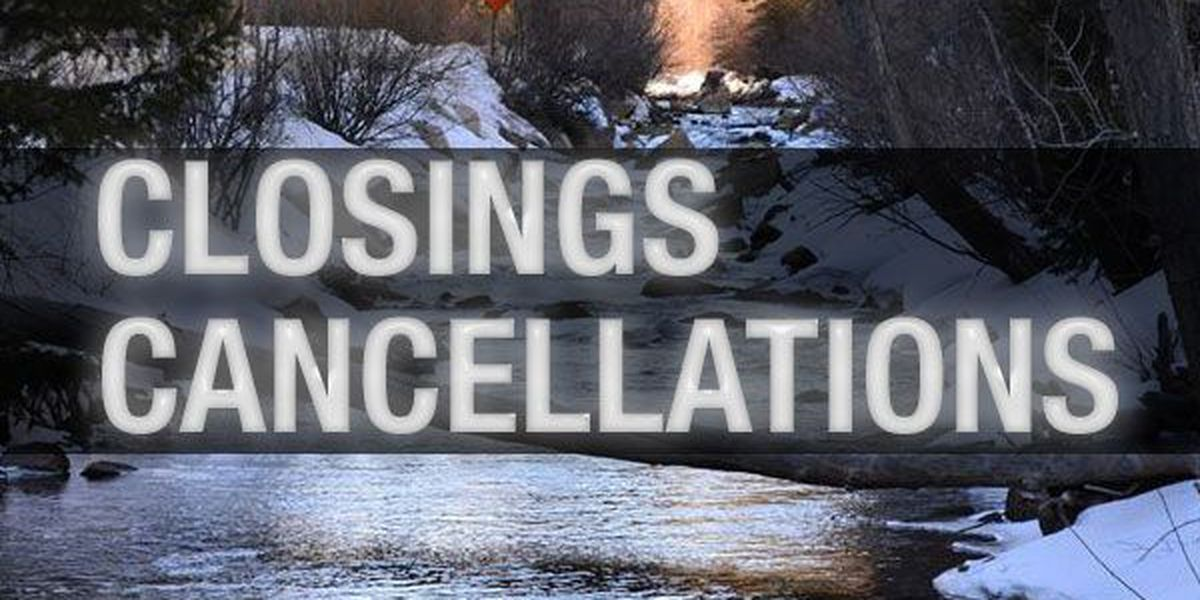 Closings, cancellations and delays