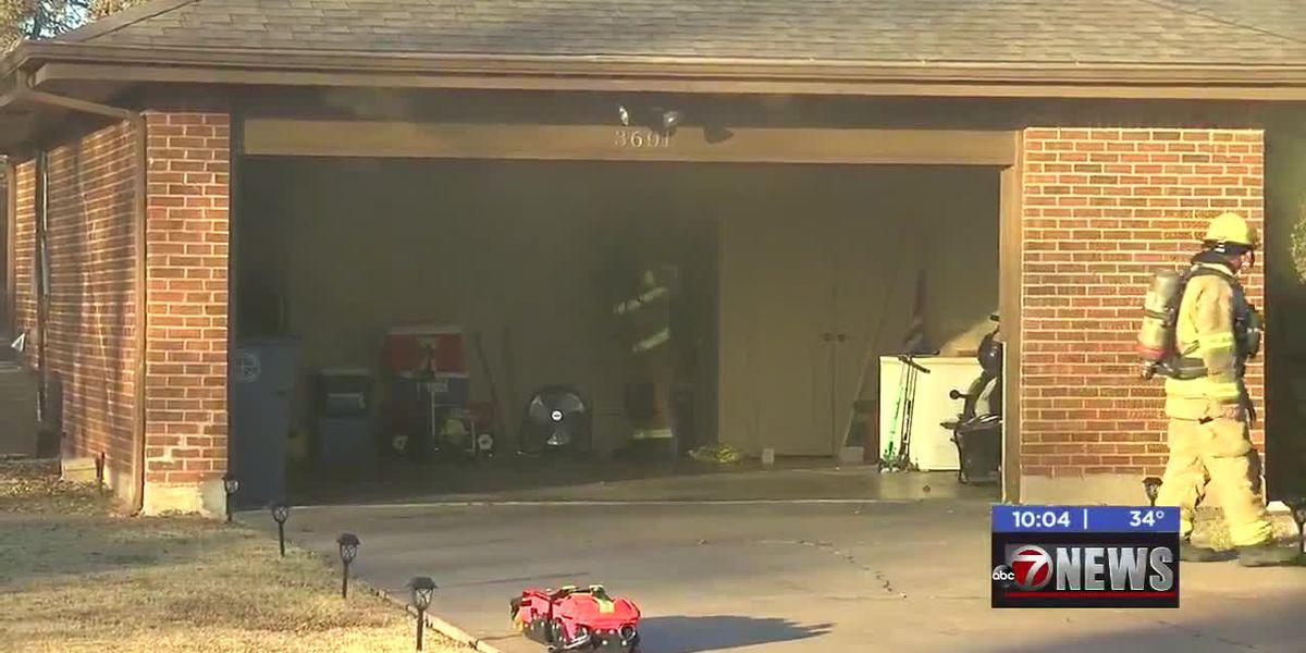 Crews fight Lawton house fire