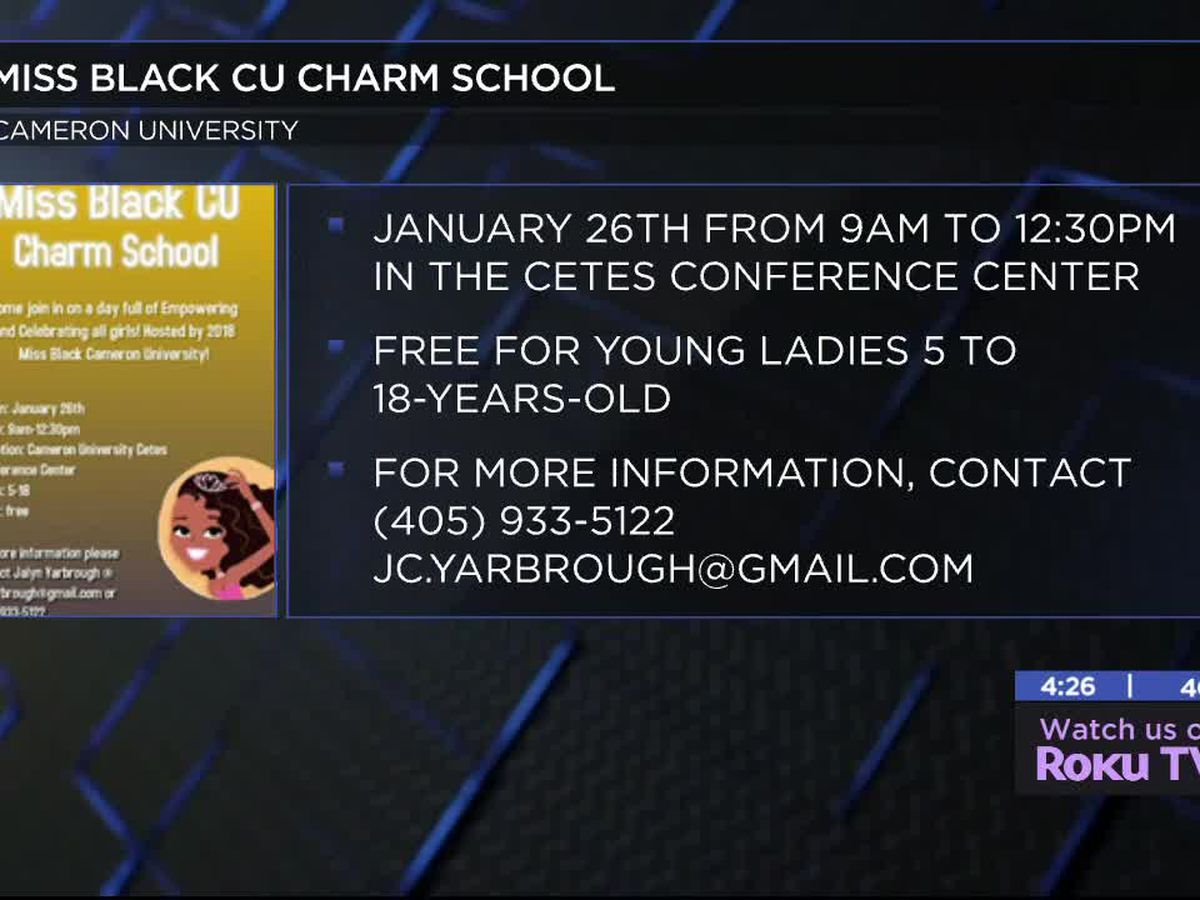 Miss Black CU's Charm School happening in Lawton