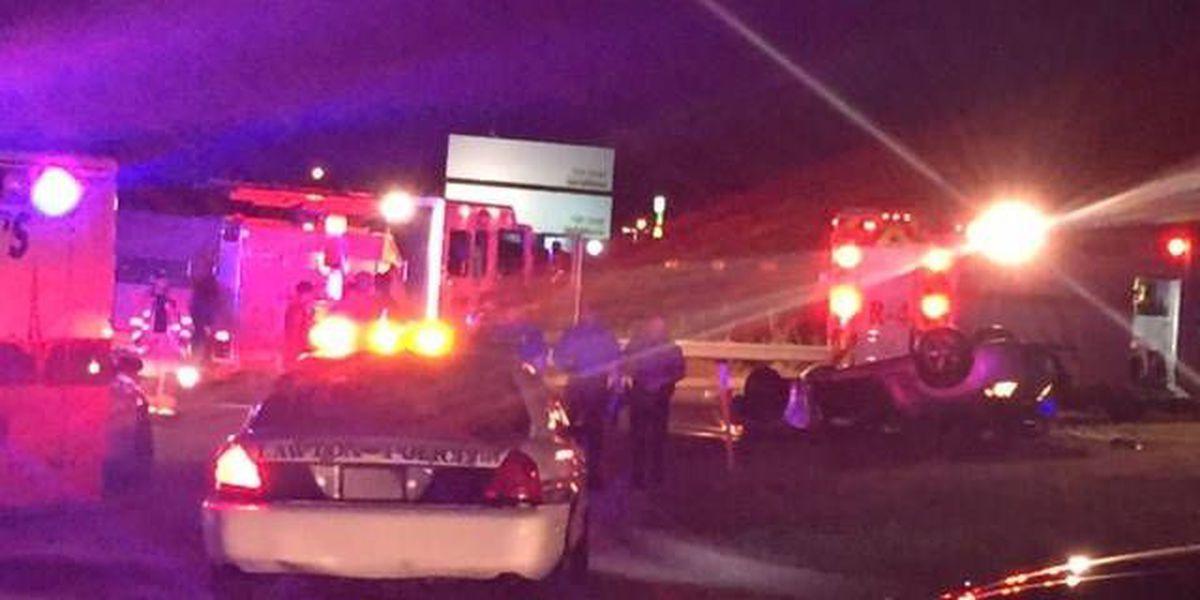 Man killed, woman hospitalized following overnight crash