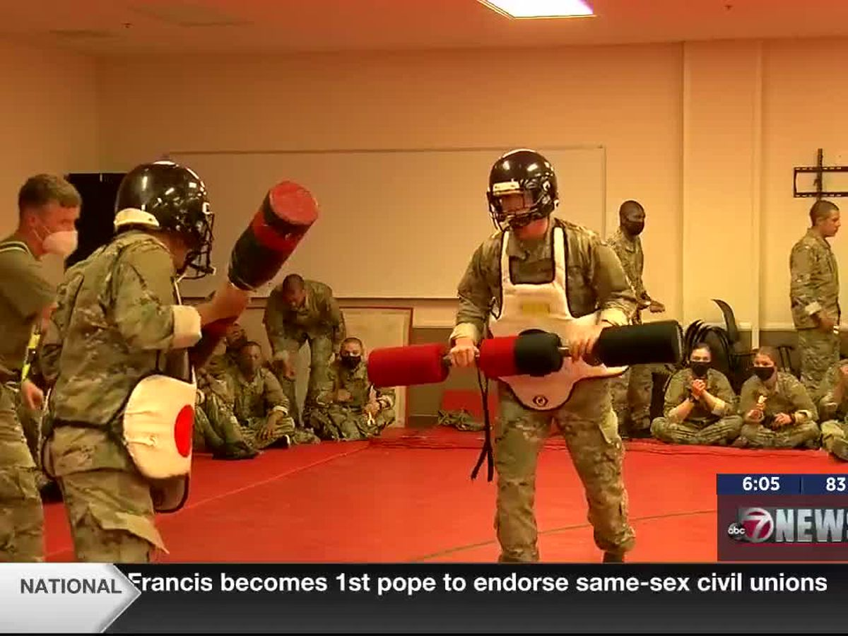 Hand-to-hand combat training back on Fort Sill