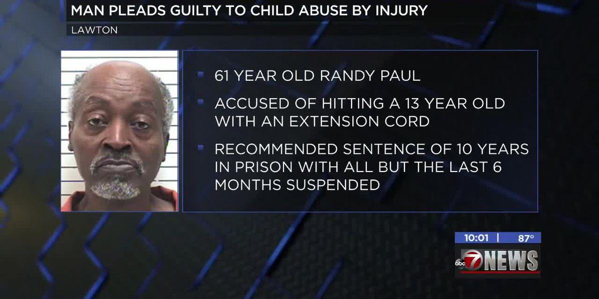 Lawton man pleads guilty of child abuse with extension cord