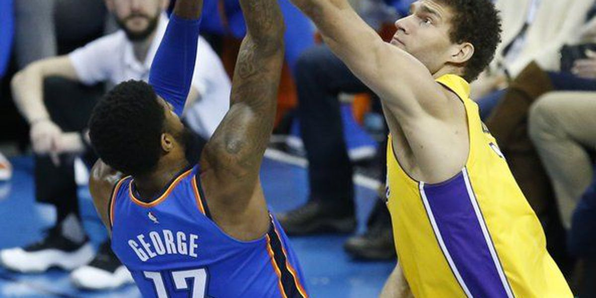 Anthony, Adams lead Thunder past Lakers 114-90