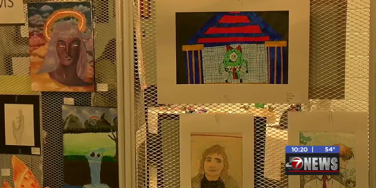 Lawton students display artwork in gallery