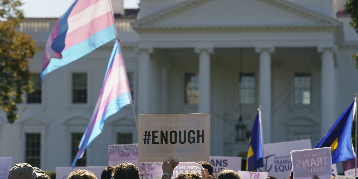 Protests against reported Trump transgender policy as he says he's 'protecting everybody'