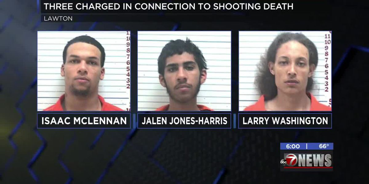 Three charged in Lawton shooting death