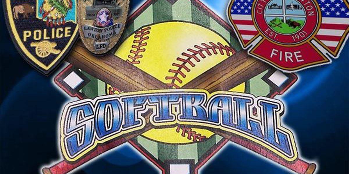 Police vs. Fire softball game