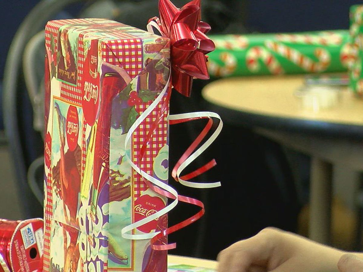Lawton organizations wrap presents for kids in the community