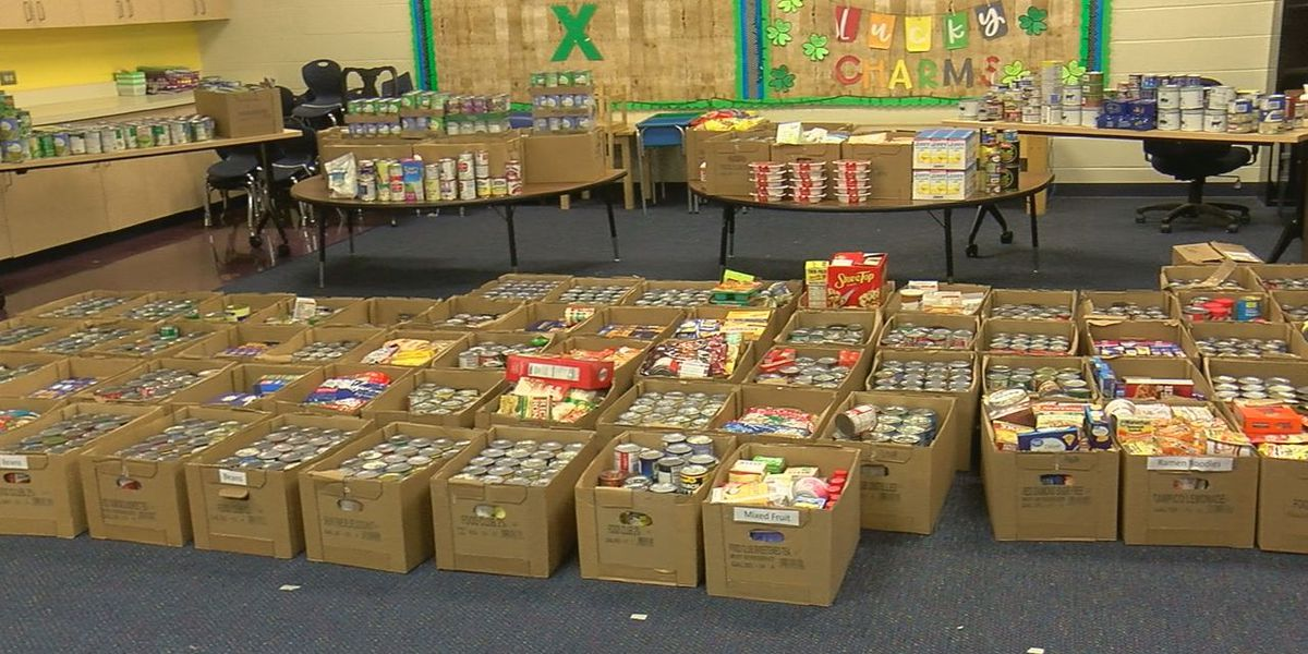 Marlow Elementary collects nearly 8,000 food items, $2,300 for Marlow Samaritans