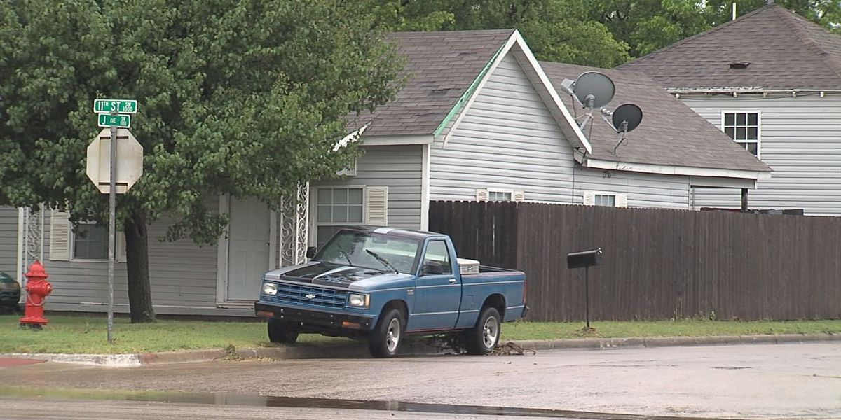 Family rescued from flooded home
