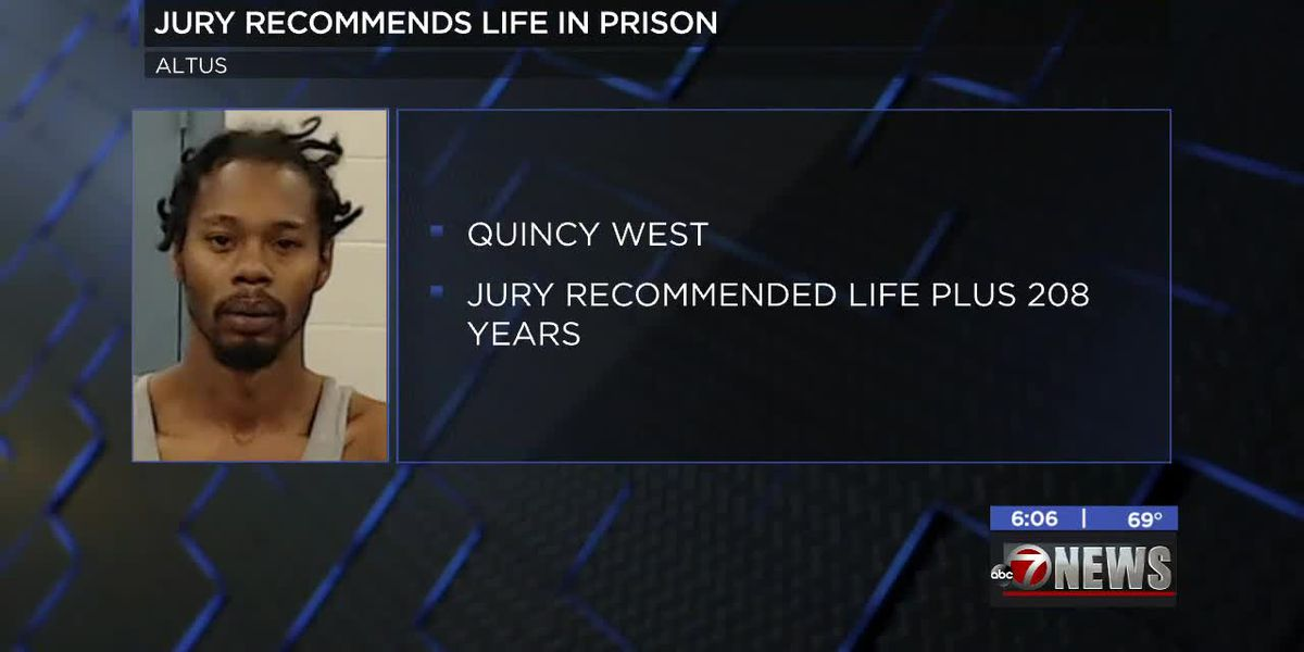 Jury recommends life plus 208 years for Altus man