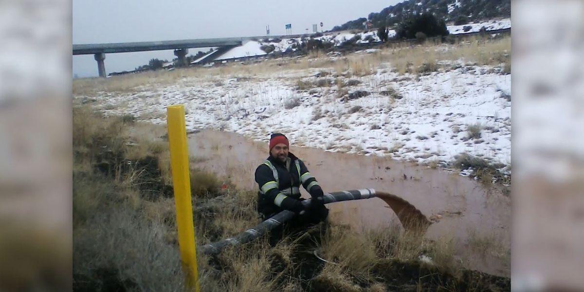 River of liquid chocolate spills near AZ highway after truck crash