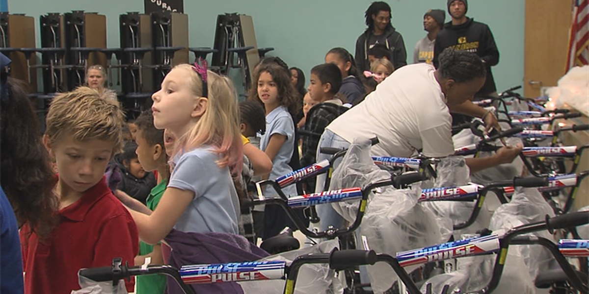 Academy Sports and Outdoors donates bikes to Lawton students
