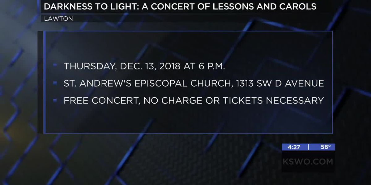 St. Andrew's Episcopal Church holding Darkness to Light Concert of Lessons and Carols