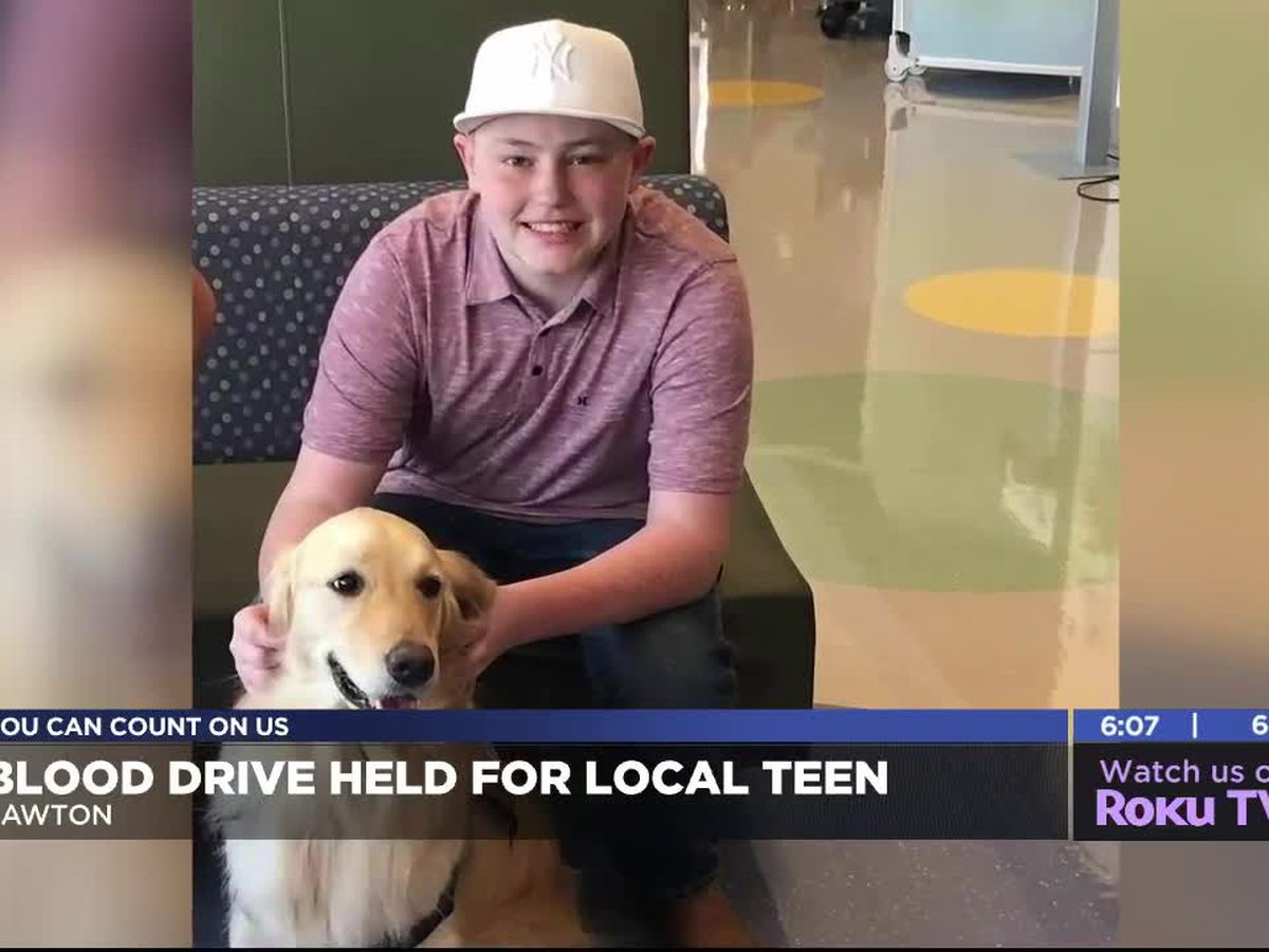 Oklahoma Blood Institute holds blood drive in support of Elgin teen battling cancer