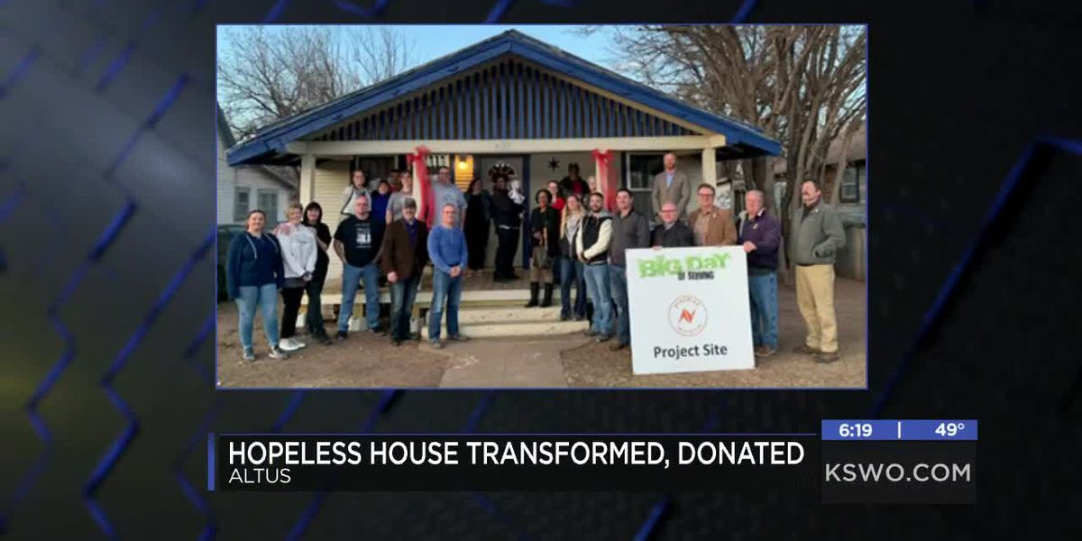 Altus house transformed and donated to family