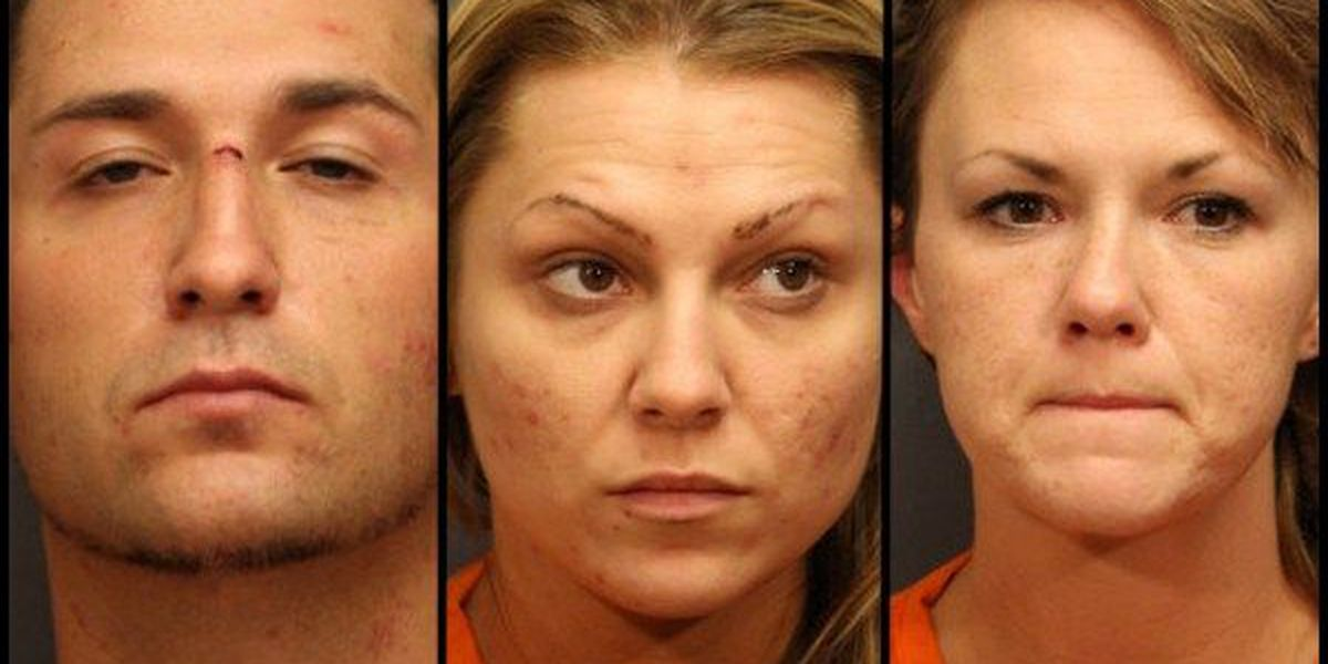 3 arrested, police find meth