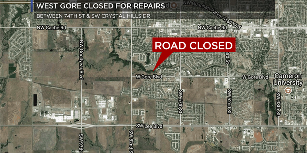 TRAFFIC ALERT: West Gore closed for construction