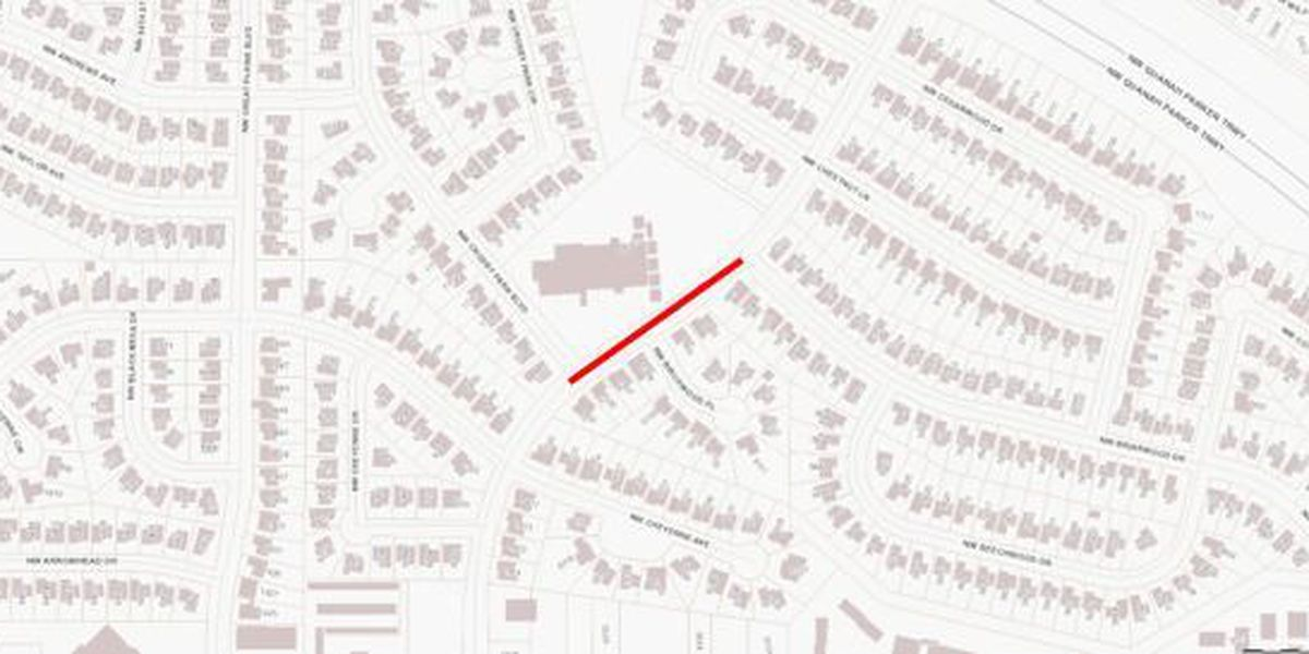 Traffic advisory in Lawton