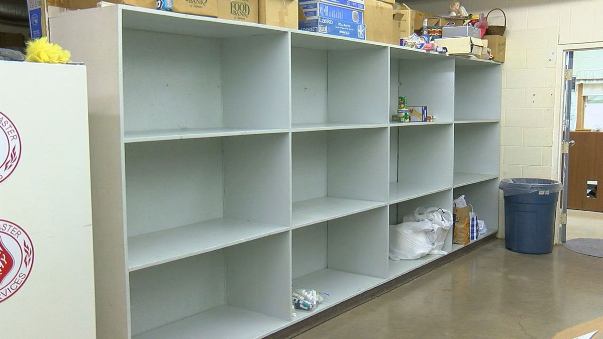 Salvation Army pantry nearly empty