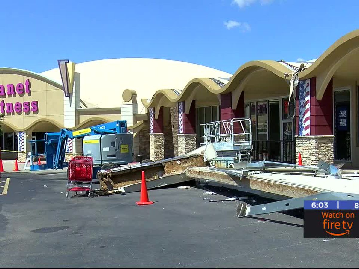 Cache Road Square businesses damaged from storm
