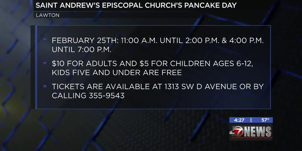 Saint Andrew's Episcopal Church hosting Pancake Day