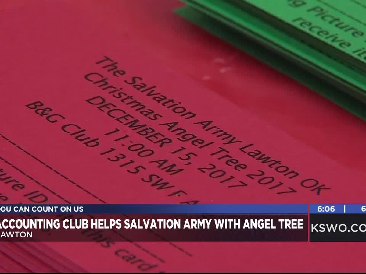 Cameron University accounting club helps Salvation Army with Angel Tree