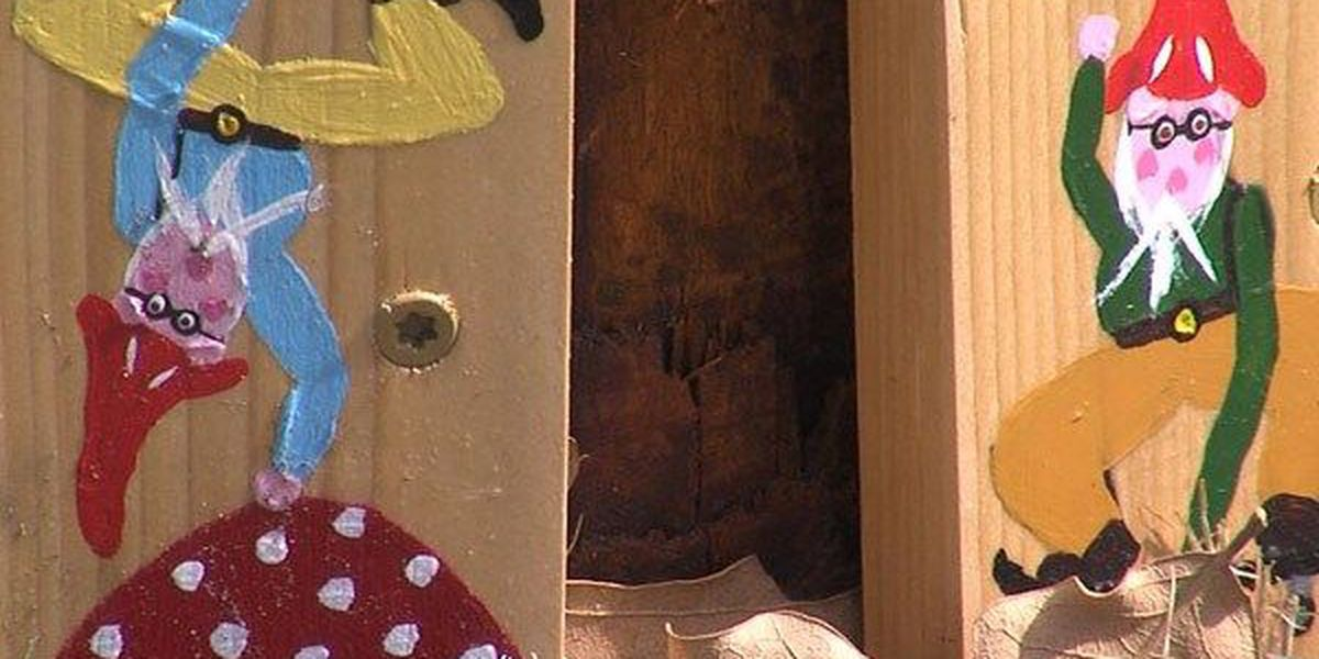 Mystery gnomer spreads cheer, whimsy with gnome paintings